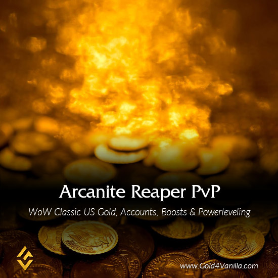 Gold, Power Leveling, Boosts, PvP, Quests and Achievements for Arcanite Reaper PvP US Realm - Medium PoP