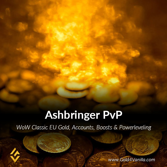 Gold, Power Leveling, Boosts, PvP, Quests and Achievements for Ashbringer PvP EU Realm - High PoP