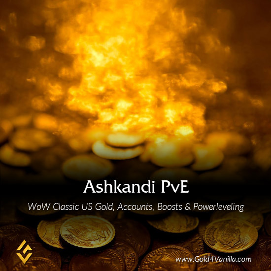 Gold, Power Leveling, Boosts, PvP, Quests and Achievements for Ashkandi PvE US Realm - High PoP