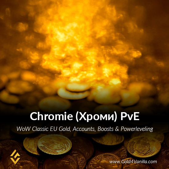 Gold, Power Leveling, Boosts, PvP, Quests and Achievements for Chromie PvE EU Realm - Medium PoP
