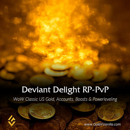 Gold, Power Leveling, Boosts, PvP, Quests and Achievements for Deviate Delight RP-PvP US Realm - Medium PoP