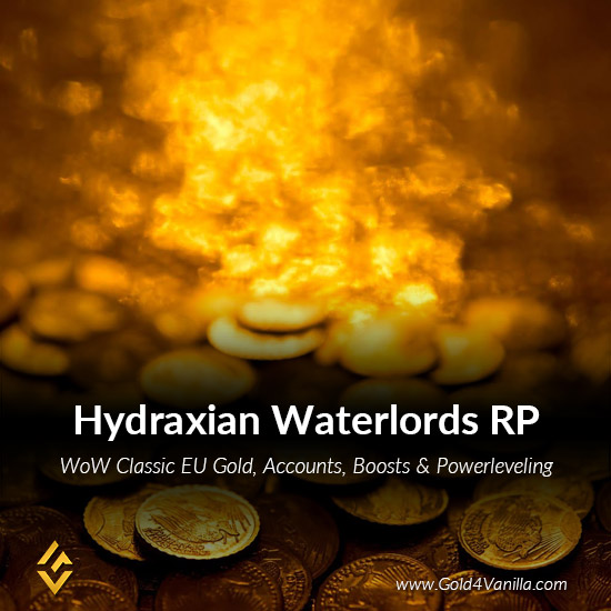 Gold, Power Leveling, Boosts, PvP, Quests and Achievements for Hydraxian Waterlords RP EU Realm - Medium PoP