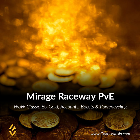 Gold, Power Leveling, Boosts, PvP, Quests and Achievements for Mirage Raceway PvE EU Realm - High PoP