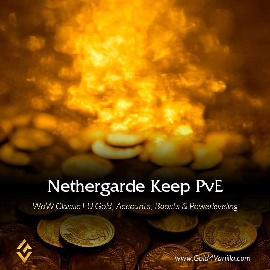 Gold, Power Leveling, Boosts, PvP, Quests and Achievements for Nethergarde Keep PvE EU Realm - Medium PoP