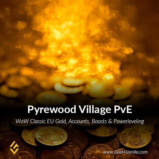Gold, Power Leveling, Boosts, PvP, Quests and Achievements for Pyrewood Village PvE EU Realm - Medium PoP