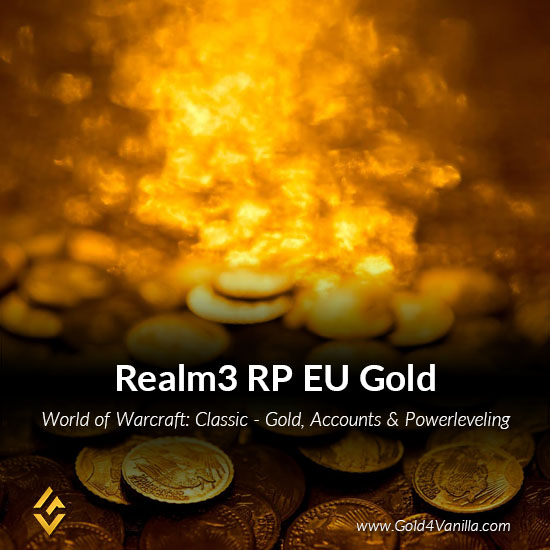 Gold, Power Leveling, Boosts, PvP, Quests and Achievements for Realm3 RP EU Realm - Medium PoP