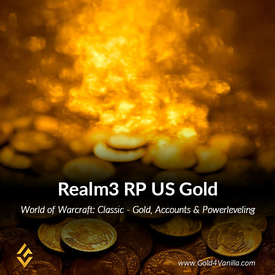 Gold, Power Leveling, Boosts, PvP, Quests and Achievements for Realm3 RP US Realm - Medium PoP