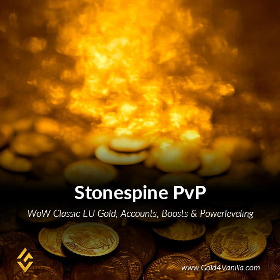 Gold, Power Leveling, Boosts, PvP, Quests and Achievements for Stonespine PvP EU Realm - Medium PoP