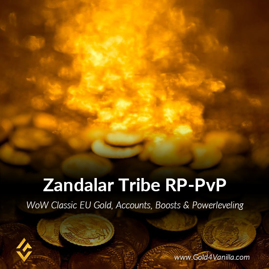 Gold, Power Leveling, Boosts, PvP, Quests and Achievements for Zandalar Tribe RP-PvP EU Realm - Medium PoP