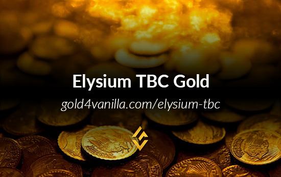 Buy Elysium TBC Gold & Accounts
