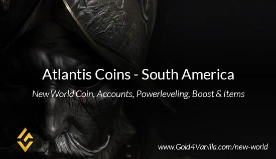 Atlantis Coins. Buy New World Atlantis Coins. NW Atlantis Coin and level 60 accounts for sale.