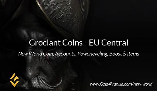 Groclant Coins. Buy New World Groclant Gold Coins. NW Groclant Coin and level 60 accounts for sale.