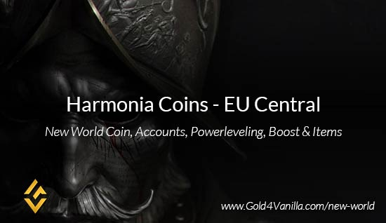 Harmonia Coins. Buy New World Harmonia Gold Coins. NW Harmonia Coin and level 60 accounts for sale.
