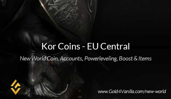 Kor Coins. Buy New World Kor Gold Coins. NW Kor Coin and level 60 accounts for sale.