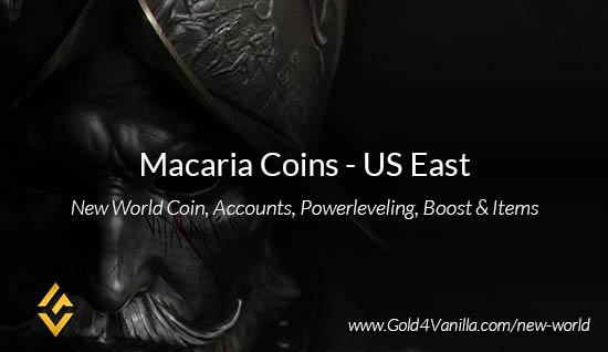 Macaria Coins. Buy New World Macaria Gold Coins. NW Macaria Coin and level 60 accounts for sale.