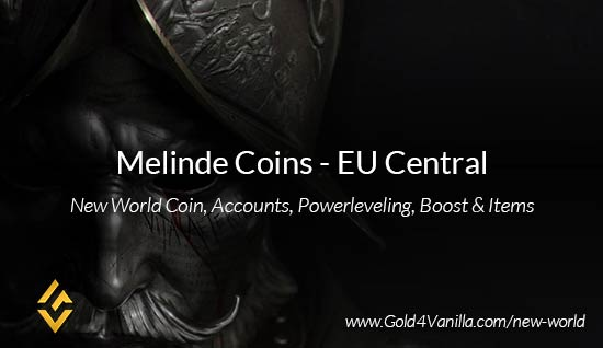 Melinde Coins. Buy New World Melinde Gold Coins. NW Melinde Coin and level 60 accounts for sale.