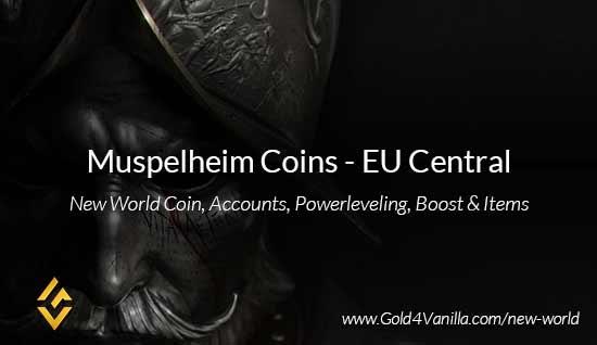Muspelheim Coins. Buy New World Muspelheim Gold Coins. NW Muspelheim Coin and level 60 accounts for sale.