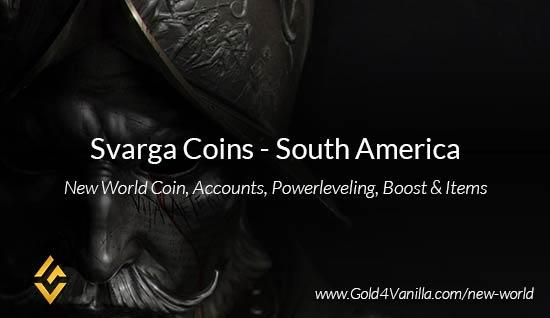 Svarga Coins. Buy New World Svarga Gold Coins. NW Svarga Coin and level 60 accounts for sale.