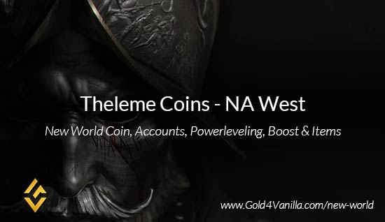 Theleme Coins. Buy New World Theleme Gold Coins. NW Theleme Coin and level 60 accounts for sale.