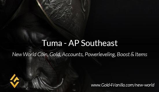Tuma Coins. Buy New World Tuma Gold Coins. NW Tuma Coin and level 60 accounts for sale.