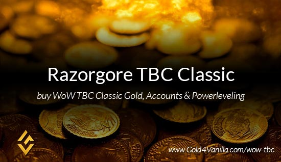Buy Gold for Razorgore TBC Classic EU. Accounts, Powerleveling and Boost Services for Razorgore TBC