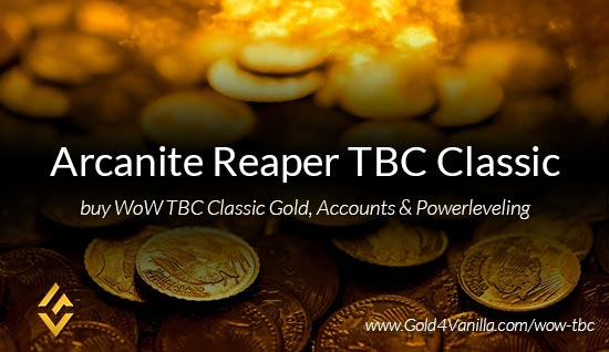 Buy Gold for Arcanite Reaper TBC Classic US. Accounts, Powerleveling and Boost Services for Arcanite Reaper TBC