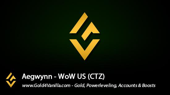 Realm Information for Aegwynn US - WoW Shadowlands / BFA -