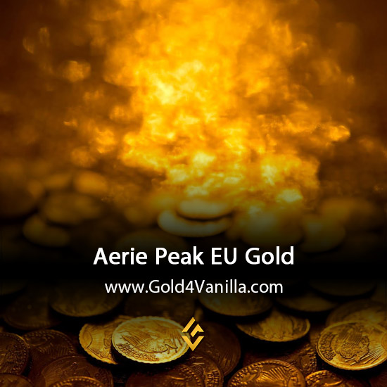 Gold, Power Leveling, Boosts, PvP, Quests and Achievements for Aerie Peak EU Realm - WoW Shadowlands / BFA - Low PoP