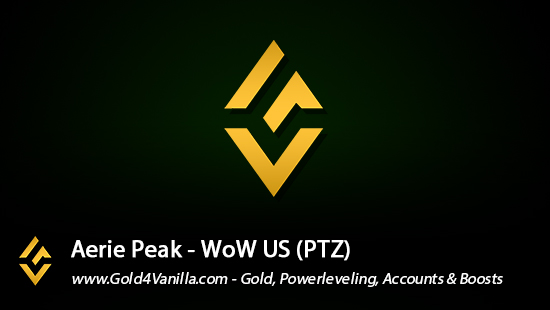 Realm Information for Aerie Peak US - WoW Shadowlands / BFA -