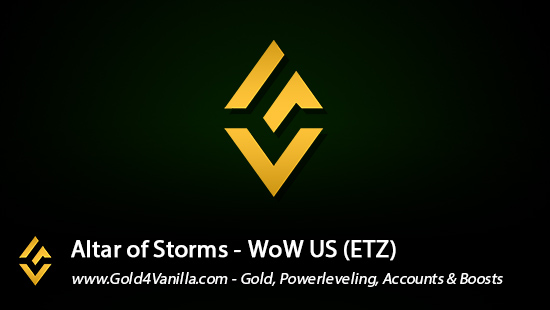 Realm Information for Altar of Storms US - WoW Shadowlands / BFA -