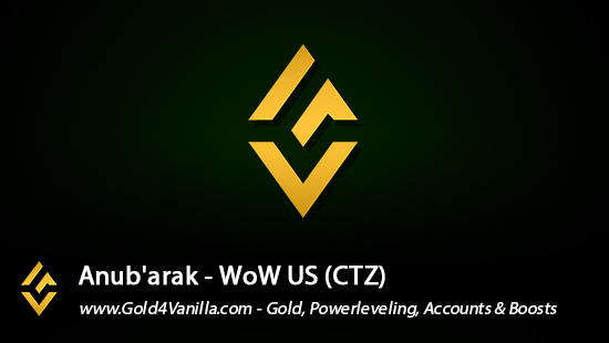 Realm Information for Anub'arak US - WoW Shadowlands / BFA -