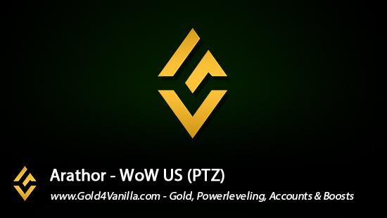 Realm Information for Arathor US - WoW Shadowlands / BFA -