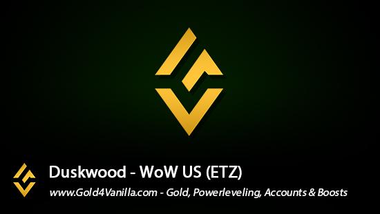 Realm Information for Duskwood US - WoW Shadowlands / BFA -