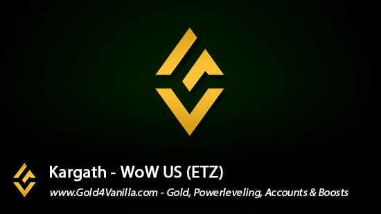 Realm Information for Kargath US - WoW Shadowlands / BFA -
