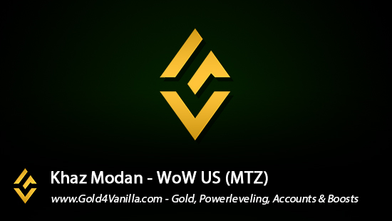 Realm Information for Khaz Modan US - WoW Shadowlands / BFA -
