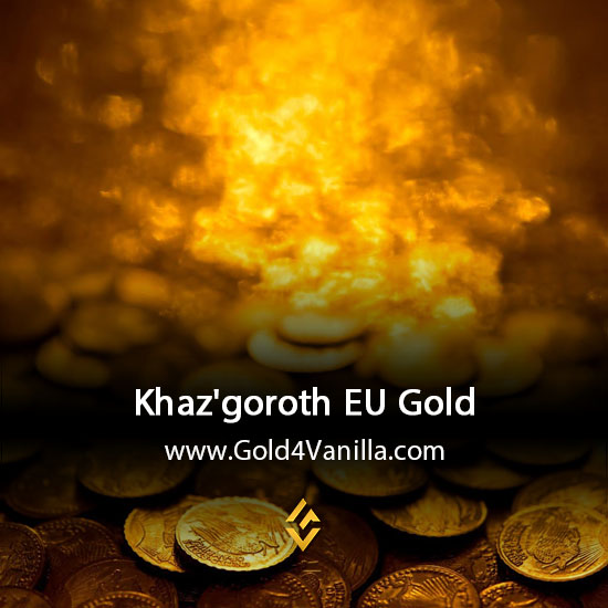 Gold, Power Leveling, Boosts, PvP, Quests and Achievements for Khaz'goroth EU Realm - WoW Shadowlands / BFA - Low PoP