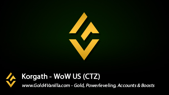 Realm Information for Korgath US - WoW Shadowlands / BFA -