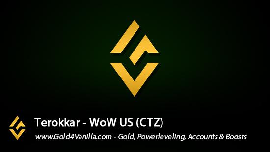 Realm Information for Terokkar US - WoW Shadowlands / BFA -