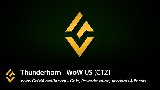 Realm Information for Thunderhorn US - WoW Shadowlands / BFA -